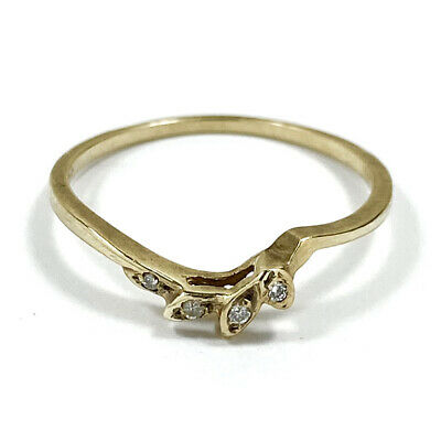 AU100 • Buy 9ct Yellow Gold Ring With 0.04ct Natural White Diamonds Size L