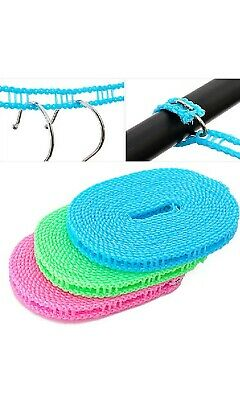£1.95 • Buy 5M Washing Clothesline Outdoor Travel Camping Clothes Line Rope Non-slip Nylon