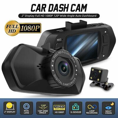 AU43.01 • Buy 1080P Car Dash Camera Front And Rear Touch Scree DVR Video Recorder Night Vision