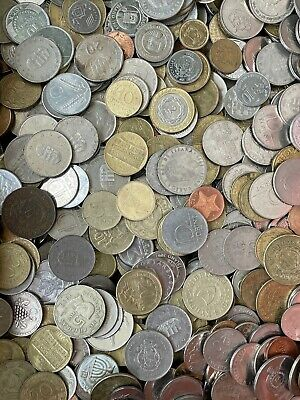 £6.99 • Buy Huge Mixed Bulk Lot Of 50 Assorted World/foreign Coins Free Postage To Uk
