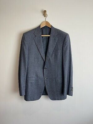 £195 • Buy Canali Exclusive Blue Check Blazer Jacket Uk 40R Silk And Cashmere- RRP £1750