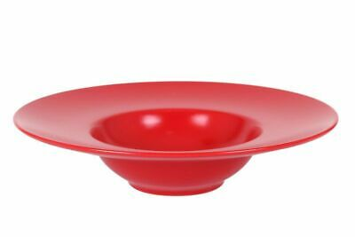£29.99 • Buy 4X RED  BARY  Stoneware Porcelain Round PASTA RISOTTO DINNER Plates Bowls 28cm