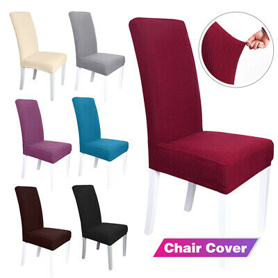 AU19.69 • Buy 1-6pcs Dining Chair Covers Spandex Cover Wedding Banquet Stretch Slipcovers AU