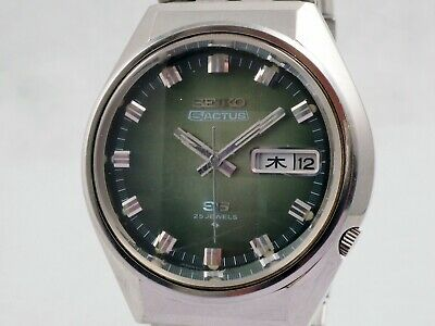 $ CDN154.31 • Buy Vintage 1973's Seiko 5 Actus Green Dial Ref.6106-7690 Works