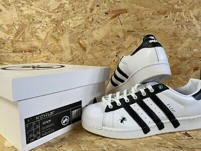 $ CDN397.24 • Buy Adidas Superstar Kieth Flint X Prodigy Custom Trainers White & Black Size 8.5UK