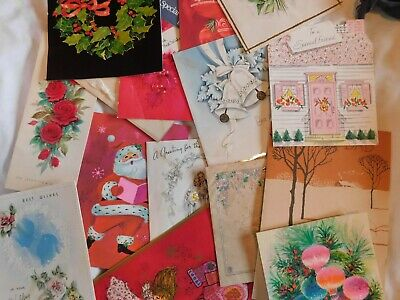 $ CDN24.98 • Buy Vintage Mid Century  Greeting Cards CHRISTMAS + ALL OCCASION 7+ POUNDS