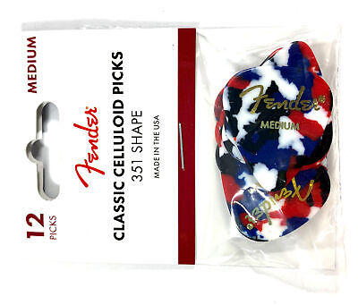 $ CDN10.53 • Buy Fender Guitar Picks 12 Pack Celluloid Medium Confetti