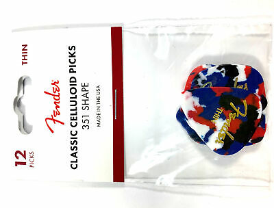 $ CDN10.53 • Buy Fender Guitar Picks 12 Pack Celluloid Thin Confetti