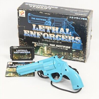 £108.91 • Buy LETHAL ENFORCERS + THE JUSTIFIER Boxed Work For CRT TV Only For Mega Drive 1946