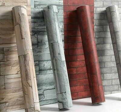 Stone Brick Wallpaper Stickers Self Adhesive Peel Sticks For Living Room Bedroom • 5.85£