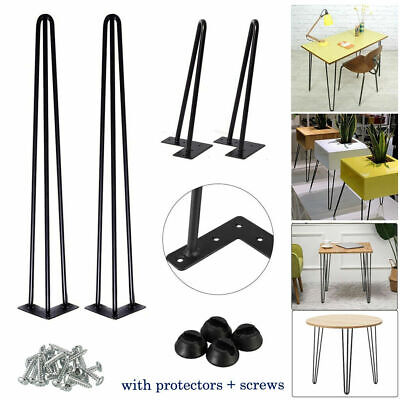 £13.90 • Buy 4x Hairpin Table Legs 10mm Metal 8  14  16  28  Furniture Table Desk Bench UK