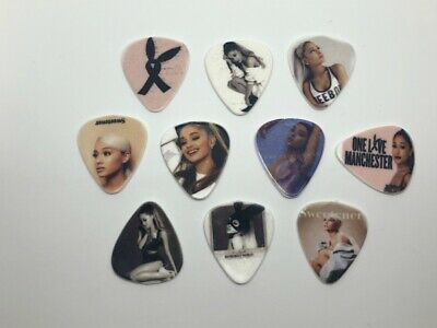 $ CDN12.44 • Buy Ariana Grande Guitar Picks Set (10 Picks/10 Diferent Designs) New Sealed