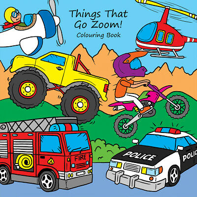£3.49 • Buy Childrens Colouring Books Things That Go Zoom Vehicles Transport For Boys Girls