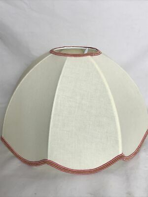 £18 • Buy Lovely Vintage Lampshade Ceiling Pendant Shade Cream Cotton Fabric 1990s VGC