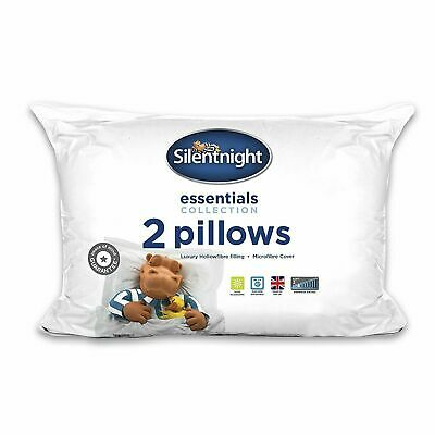 £9.95 • Buy Silentnight Essential Collection Pillow Pair Pack Of 2 Pillows 2 Year Guarantee