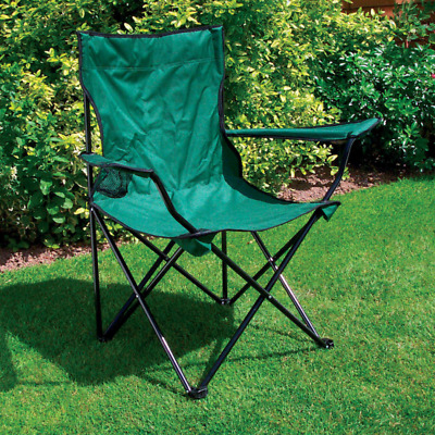 £12.49 • Buy Folding Camping Chair Fishing Travel Seat Garden Picnic Cup Holder Collapsible
