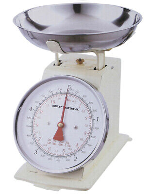 £10.99 • Buy New Cream 5kg Tradition Kitchen Weighing Scales Metal Baking Cooking Mechanical
