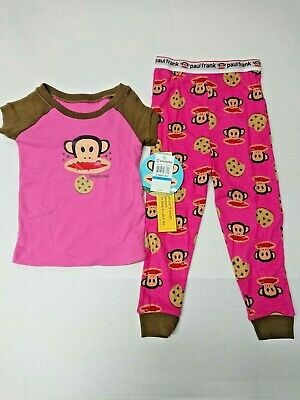 £9.75 • Buy New With Tag Paul Frank Baby Girls Size 24M 2-Piece Pajama Set Pink Small Paul