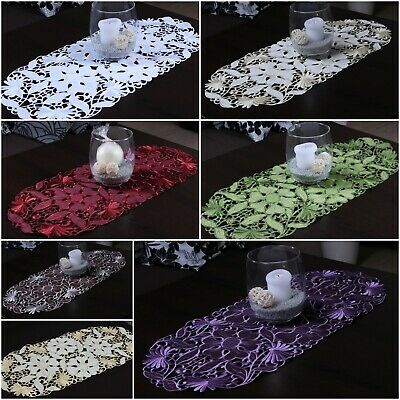 £6.99 • Buy Amazing Small Table Runners Ideal For Coffee Table, Oval Embroidered Tablecloths