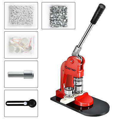 £89.99 • Buy Badge Maker Machine Making Pin Button Badges Punch Press 25mm 1000 Cutter Kits