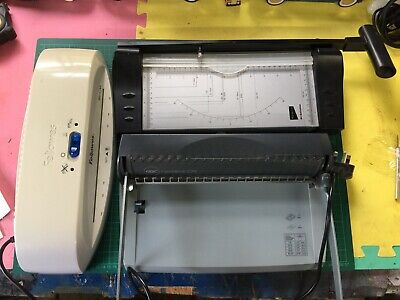 £50 • Buy 3 Stationary Equipment Paper Trimmer, Fellowes Laminator And Comb Binder