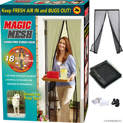 £3.99 • Buy Magic Curtain Door Mesh Magnetic Fastening Mosquito Fly Bug Insect Net Screen