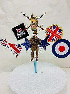 £6.99 • Buy British Army Birthday Cake Topper In Pick, ARMY Display