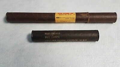 $60 • Buy US M1 Garand Rifle Cleaning Tool Set In Sealed Tube & Extra Pistol Rod Cleaner