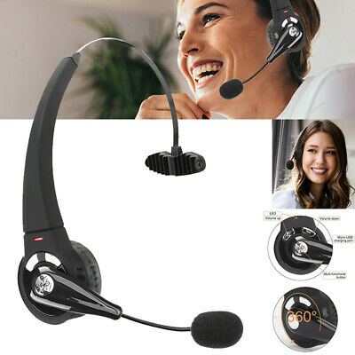 £8.55 • Buy Wireless Bluetooth Noise Cancelling Headset Office Call Center Headphone W/ Mic