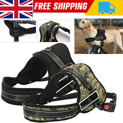 £7.68 • Buy No-pull Dog Harness Outdoor Adventure Pet Vest Padded Handle Large Chest Belts