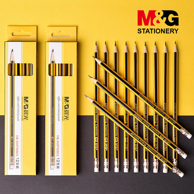 £2.99 • Buy HB Pencils With Eraser Rubber Tip School Supplies Stationery Sketching Quality