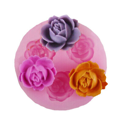 UK 3D Rose Flower Silicone Mold Chocolate Candy Baking Moulds Cake Decorating  • 3.29£