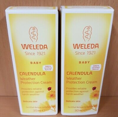 £11.99 • Buy 2x Weleda Organic Calendula Baby Weather Protection Cream 30ml For Delicate Skin