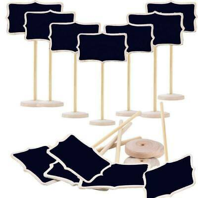 £8.54 • Buy 12/24pc Mini Wooden Blackboard Wedding Party Chalkboard Sign Message Table Stand