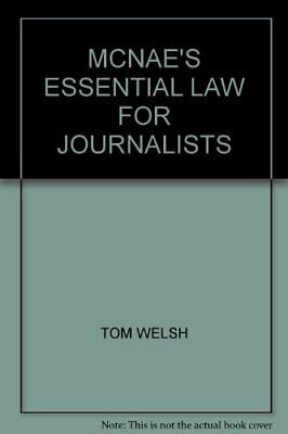 £6.09 • Buy McNae's Essential Law For Journalists By Leonard Cyril James McNae Book The