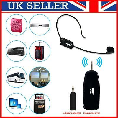 £21.61 • Buy UHF Wireless Head-Mounted Microphone MIC System Headset W/ Receiver Transmitter