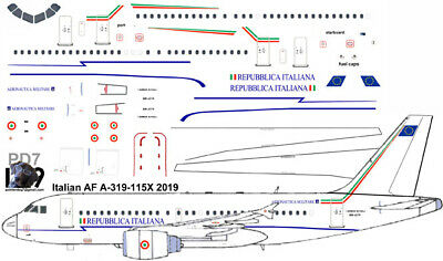 £7.10 • Buy Italian Air Force Airbus A-319 Pointerdog7 Decals For Revell 1/144 Kit