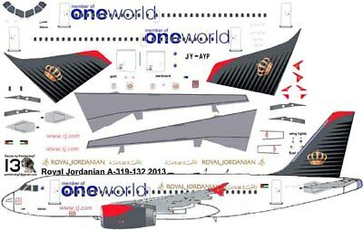 £7.10 • Buy Royal Jordanian One World Airbus A-319 Pointerdog7 Decals For Revell 1/144 Kit