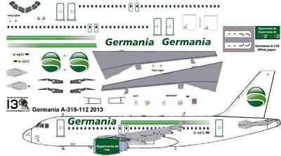 £7.10 • Buy Germania Airbus A-319 Pointerdog7 Decals For Revell 1/144 Kit