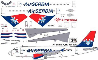 £7.10 • Buy Air Serbia Airbus A-319 Pointerdog7 Decals For Revell 1/144 Kit
