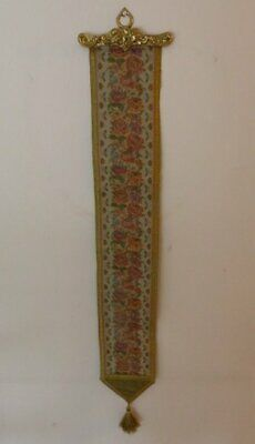 £24.75 • Buy Tapestry Bell Pull With Brass Mount