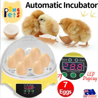 AU23.99 • Buy 7 Eggs Incubator Fully Automatic Digita Turning Chicken Duck Poultry Hatcher LU