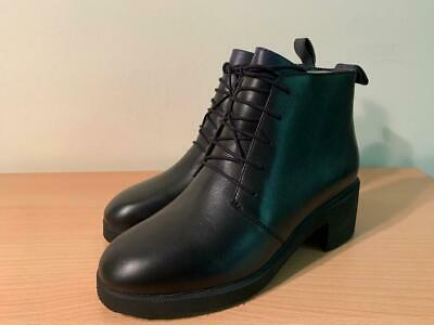 £44.99 • Buy Camper Wonder  Black Leather Lace Up Heel Ankle Boots Brand New With Box