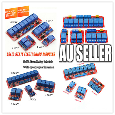 AU8.50 • Buy 5V Or 12V 1-2-4-8 Channel Relay High Low Level Optocoupler Module For Arduino PI