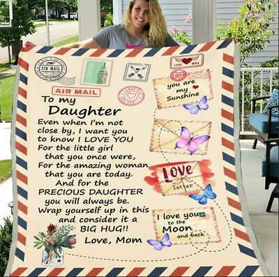 £60.17 • Buy Personalized To My Daughter Fleece Blanket Christmas Birthday Gift For Daughters