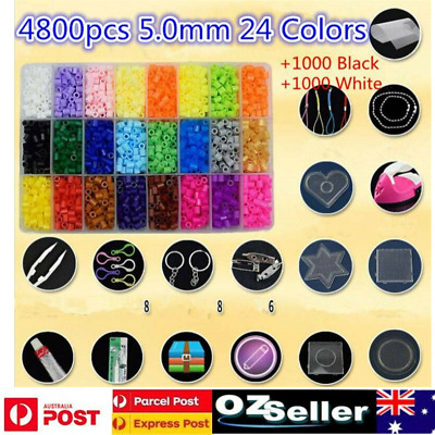 AU30.89 • Buy 6800Pcs 5mm DIY For Slime Making Kit Colorful Foam Ball Granules Flat Beads Toy