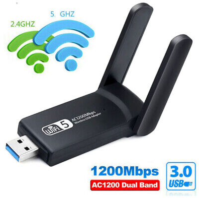 £8.68 • Buy 1200Mbps WiFi Dongle And Bluetooth 3.0 For PC Laptop Dual Band USB Adapter