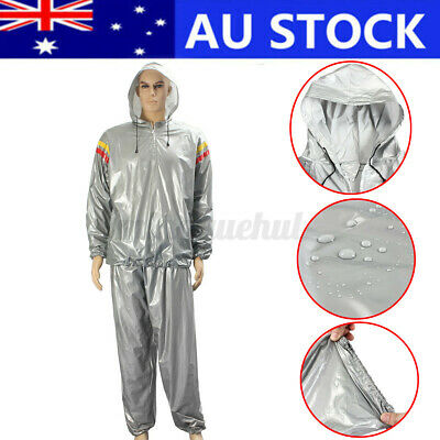 AU17.21 • Buy Sweat Track Sauna Suit Sports Fitness Slimming Boxing MMA Exercise Training XXL