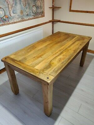 £450 • Buy  Light Solid Mango Wood Dining Table