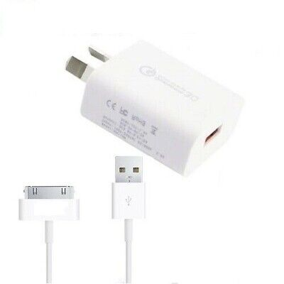 AU12.59 • Buy Quick 3. Qualcomm FAST USB Wall Charger Adapter With Cable For Apple IPhone 4 4S